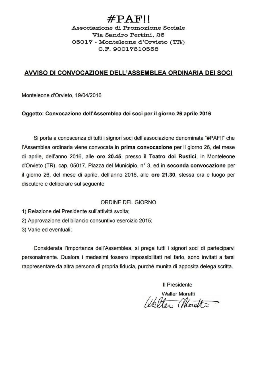 AVVISO DI CONVOCAZIONE DELL'ASSEMBLEA ORDINARIA DEI SOCI